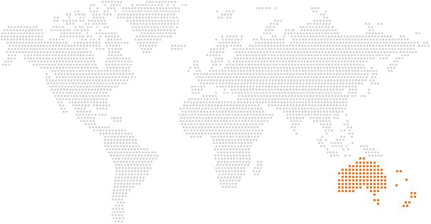 Mapa del mundo con posicion de australia